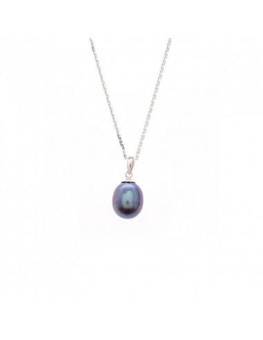 Boucles d'oreilles Popi Coussin Amethyste Or Blanc et Diamant 0,07ct Améthyste 0,6ct
