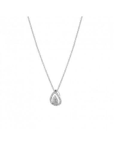 Boucles d'oreilles Puces à l'infini Or Blanc et Diamant 0,17ct