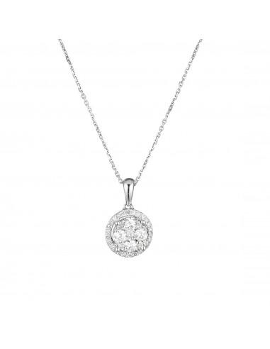 Boucles d'oreilles Rangs Lumineux Or Jaune et Diamant 0,25ct
