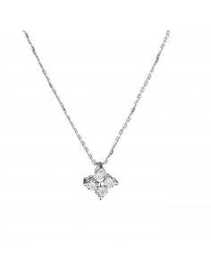 Boucles d'oreilles Précieuses Topazes Or Blanc et Diamant 0,03ct Topaze 3,06ct