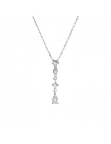 Boucles d'oreilles Anneau PM Or Blanc et Diamant 0,06ct