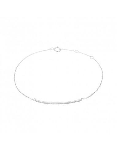 Boucles d'oreilles Grimpantes Vagues de diamants Or Blanc et Diamant 0,13ct