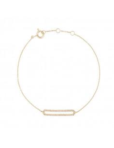 Boucles d'oreilles Constance Or Blanc et Diamant 0,22ct