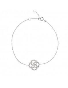Boucles d'oreilles Pointes infinies Or Blanc et Diamant 0,05ct