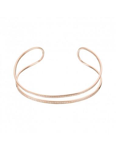 Boucles d'oreilles Trio de diamants et Perle Noire Or Blanc et Diamant 0,07ct Perle