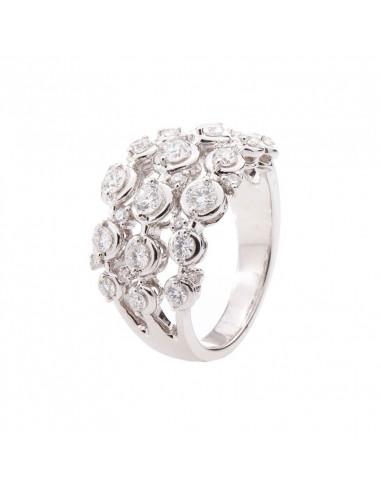 Boucles d'oreilles Pétillantes Saphir Or Blanc et Diamant 0,12ct Saphir 0,81ct