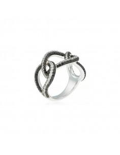 Boucles d'oreilles Jaipur Or Blanc et Diamant 0,02ct Saphir 0,76ct