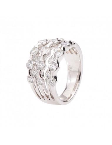 Boucles d'oreilles grimpantes Noir et Blanc Or Blanc et Diamant 0,2ct Diamant noir