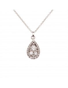 Boucles d'oreilles Lana Or Jaune et Diamant 0,02ct Saphir 0,5ct