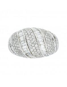 Pendentif Danseuse Or Blanc et Diamant 0,02ct