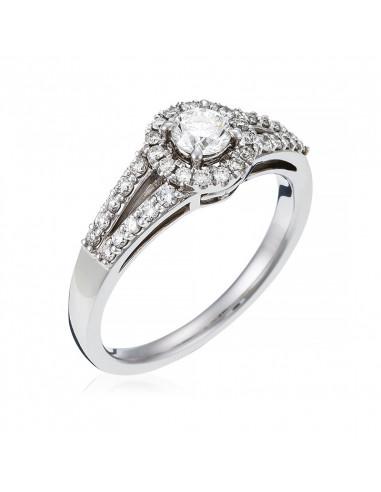 Pendentif Rosace 3 Ors Or Bicolore  et Diamant 0,25ct