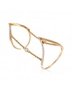 Pendentif Noeud Elegance Or Blanc et Diamant 0,04ct