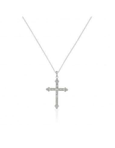 Pendentif Cercle Ajouré Noir et Blanc Or Blanc et Diamant 0,2ct Diamant noir