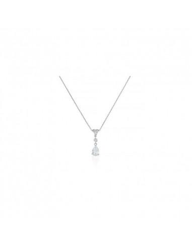 Pendentif Enclos précieux Or Blanc et Diamant 0,15ct