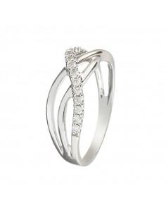 Pendentif Trefle coeur  Or Jaune et Diamant 0,04ct