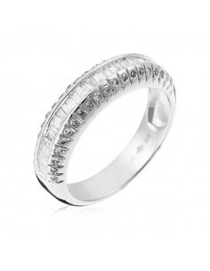 Pendentif Danse Or Blanc et Diamant 0,007ct