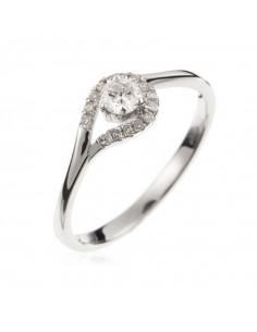 Pendentif Simply Or Blanc et Diamant ct Perle