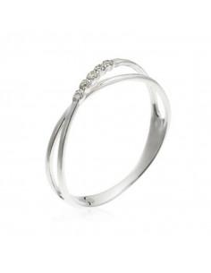 Pendentif Coeur Oriental Or Blanc et Diamant 0,15ct