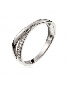 Pendentif Précieux Saphir Or Blanc et Diamant 0,03ct Saphir 0,16ct