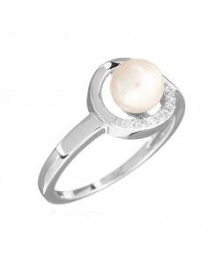 Pendentif Ma Perle Or Blanc et Diamant 0,01ct Perle