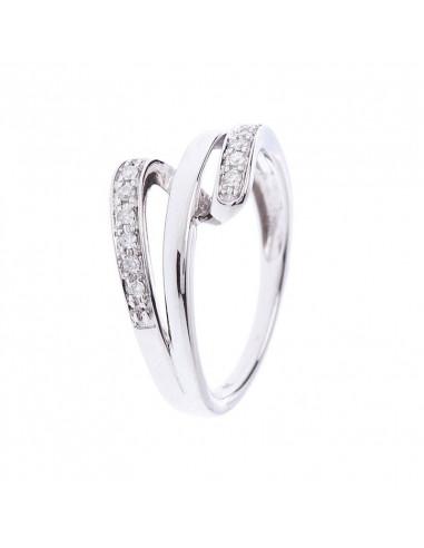 Pendentif Duetto Rondeur Or Blanc et Diamant 0,23ct