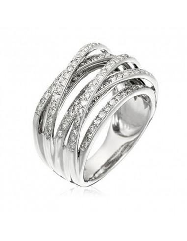 Pendentif Arabesque Or Blanc et Diamant 0,71ct