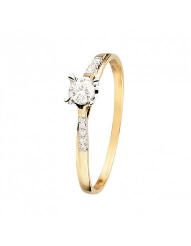 Pendentif La Main Or Jaune et Diamant 0,08ct