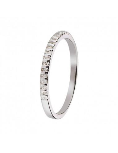 Pendentif Barette Saphir Or Blanc et Diamant 0,01ct Saphir 0,36ct