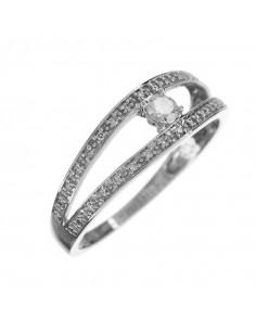 Pendentif Stella Or Blanc et Diamant 0,15ct