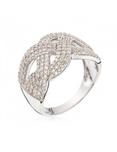 Pendentif Royale Passion Océane Or Blanc et Diamant 0,01ct Saphir 0,19ct
