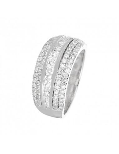 Pendentif Life Or Blanc et Diamant 0,02ct