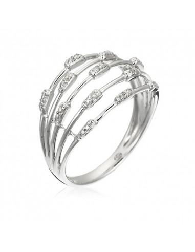 Pendentif Rubis Romance Or Blanc et Diamant 0,01ct Rubis 0,16ct