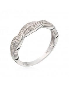 Bracelet Precious Eternity Or Blanc et Diamant 0,12ct