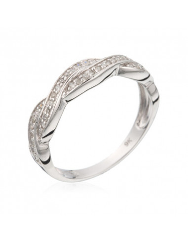Bracelet Precious Eternity Or Blanc et Diamant 0,12ct
