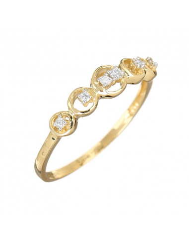 Bracelet Eternity Or Jaune et Diamant 0,14ct