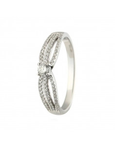 Bracelet Coeur Diams passion Or Blanc et Diamant 0,08ct