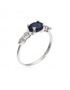 Bracelet Flora Or Blanc et Diamant 0,09ct