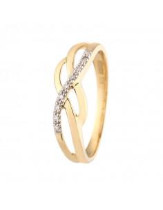 Bracelet Pretty Flower Or Blanc et Diamant 0,1ct