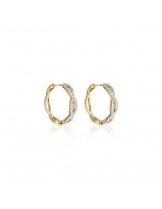 Bracelet En parallèle Or Rose et Diamant 0,58ct