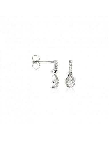 Bague Toi et Moi Or Blanc et Diamant 1,03ct Perle de culture