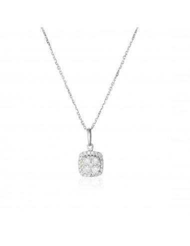 Bague Anneau ajouré Or Blanc et Diamant 0,18ct