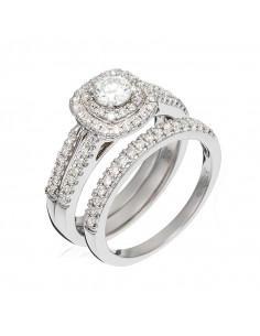 Bague Couronne merveilleuse Or Jaune et Diamant 0,64ct