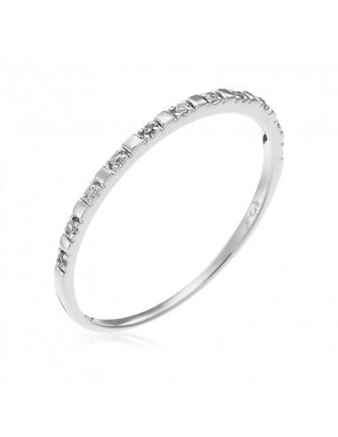 Collier Croix bourgeonnée Or Blanc et Diamant 0,59ct