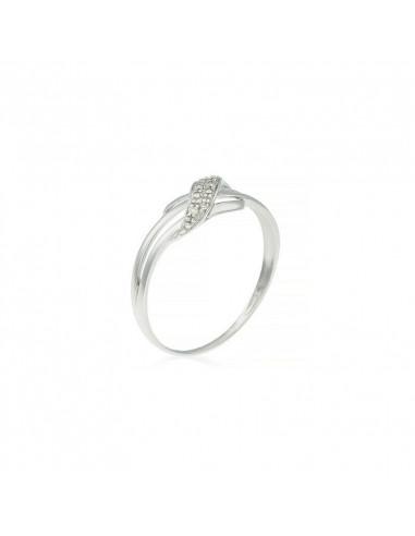 Boucles d'oreilles Créoles Scintillantes Or Blanc et Diamant 0,61ct
