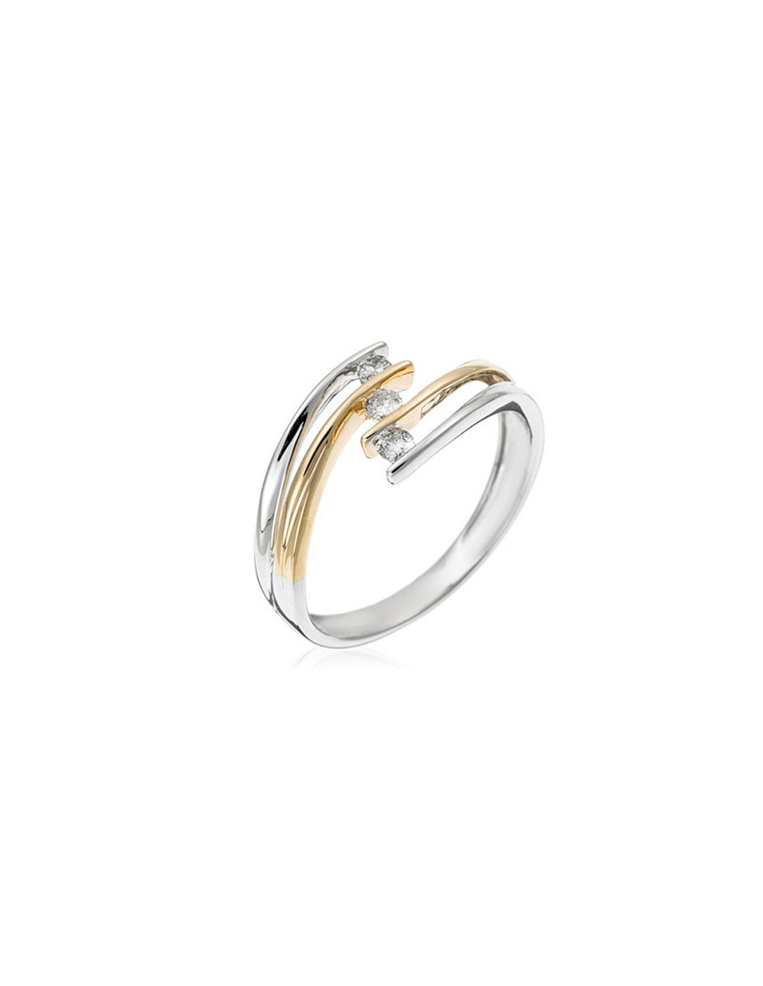 39e5db48d4074 Bague Belle Alliance Tour Complet Or Blanc et Diamant 0,16ct