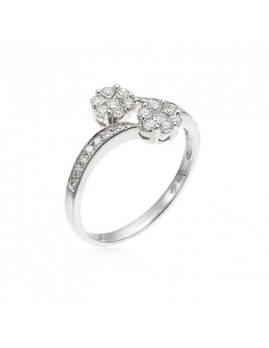 Bague Alliance tour de diamants Or Blanc et Diamant 0,33ct