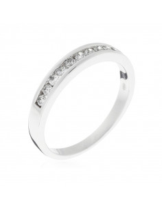 Bague New Entrelacs Candides Or Blanc et Diamant 0,99ct