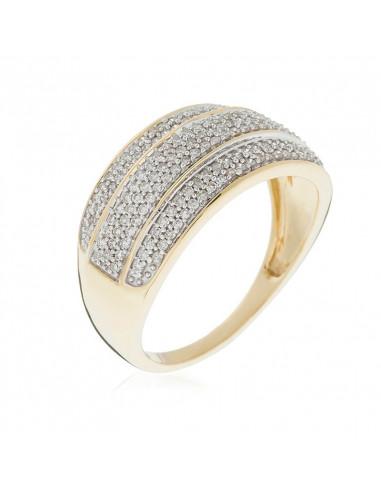 Collier diamant perce Capri Or Blanc et Diamant Nu 0,18ct