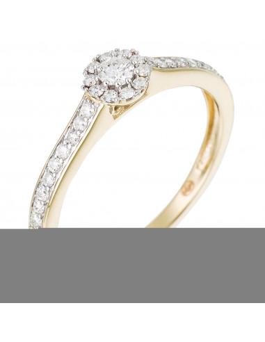 Collier diamant perce Shiny Or Blanc et Diamant Nu 0,22ct