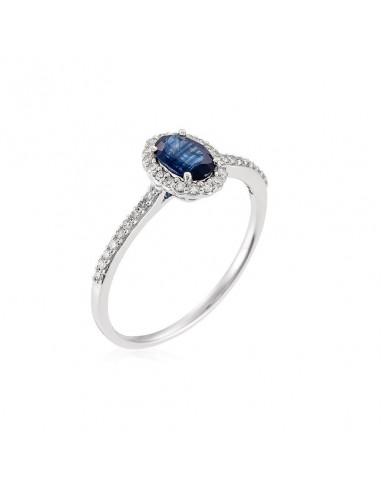 """Bague """"Courtoisie"""" Diamant 0,14/36 Saphir 0,6"""